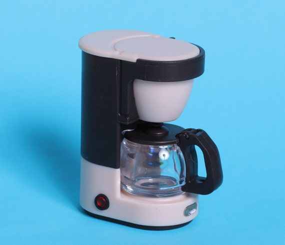 Dollhouse Miniature COFFEE MAKER MACHINE BLACK Electric Bakery Supply 10730