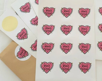 Small business logo stickers, 6cm round stickers, set of 12 round stickers with your business logo.