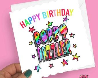 Bobby Dazzler Birthday Card, yorkshire birthday card for her