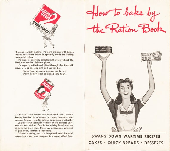 Vintage 1943 How To Bake By The Ration Book Instant Pdf Etsy