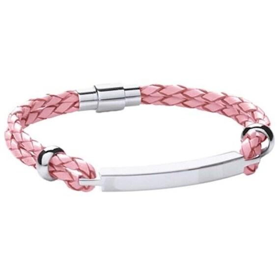 Womens Jewellery Pink Bracelet PERSONALISED BOX Mum Nan Daughter Birthday Gifts