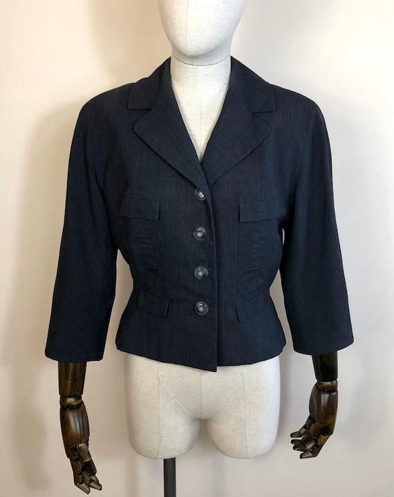 1940's Original Vintage Grey Cropped Jacket Size U