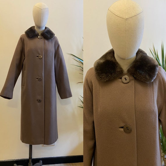 1950's Wool and Fake Fur Coat