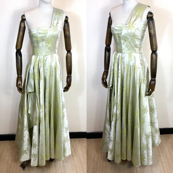 1940's Original Vintage Brocade Ball gown Size UK