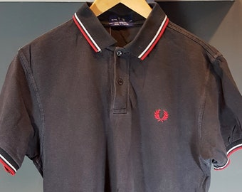 eb9c5198b Vintage Mens Fred Perry Polo Shirt - SMALL - Tshirt Tee Made in England -  Chest 38