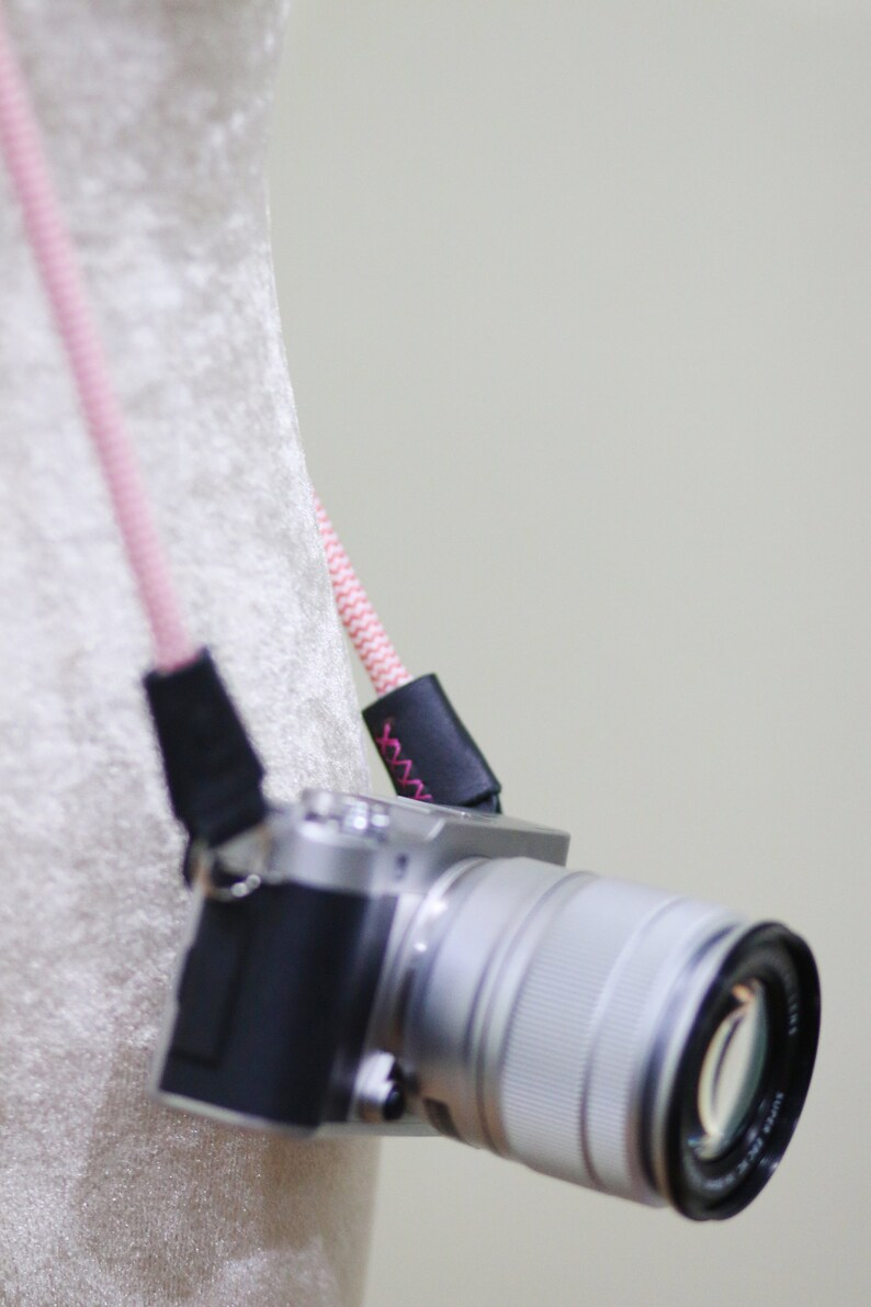 Rope /& Leather Neck Shoulder Camera Strap 40 Pink Soft Braided Rope For Mirrorless Leica Olympus Canon Nikon Fuji Sony Panasonic Pentax