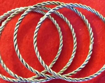 Set of 4 Bangles Bracelets