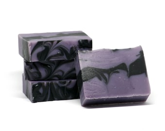 Licorice Lavender Cold Process Soap, Soap with Shea Butter, Soap with Kaolin Clay, Soap With Olive Oil, Licorice Soap, Vegan Soap Canada