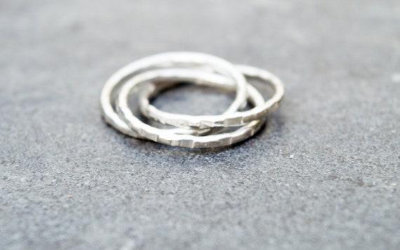 designer nuovo e usato grande sconto di vendita negozio di sconto Argento anello-Trinity Anello-regalo per lei-minimalista  anello-gioielli-anelli-istruzione anello-argento band anello-argento fatti  a mano gioielli