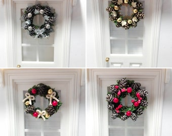 1:12 Scale Xmas Wreaths