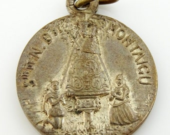 Notre Dame de Montaigu Our Lady of Scherpenheuvel French Vintage Religious Medal