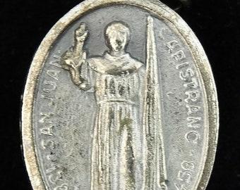 San Juan Capistrano Vintage Saint Medal Pendant Mission Saint John of Capestrano