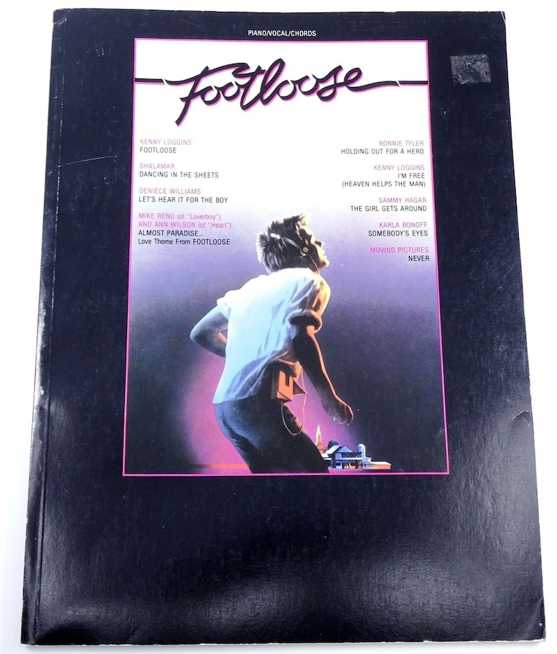 Footloose Soundtrack Songbook Piano Vocal Guitar Chords Etsy