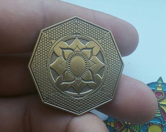 Sacred Geometry Mandala Hat pin