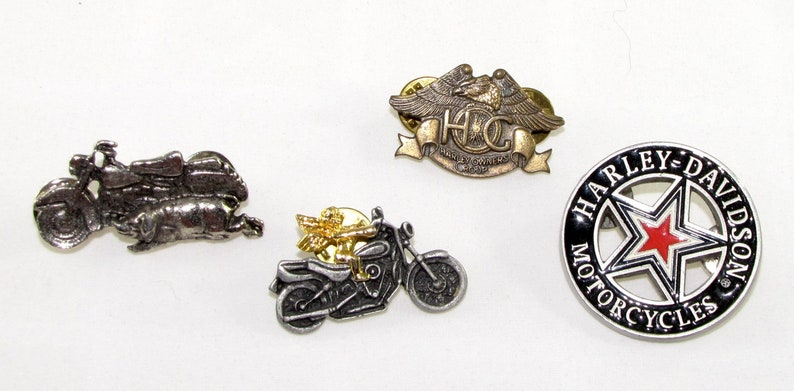 04ff134d7b1a70 Vintage Harley Davidson Pins Harley Motorcycle Tie Clasp HOG | Etsy