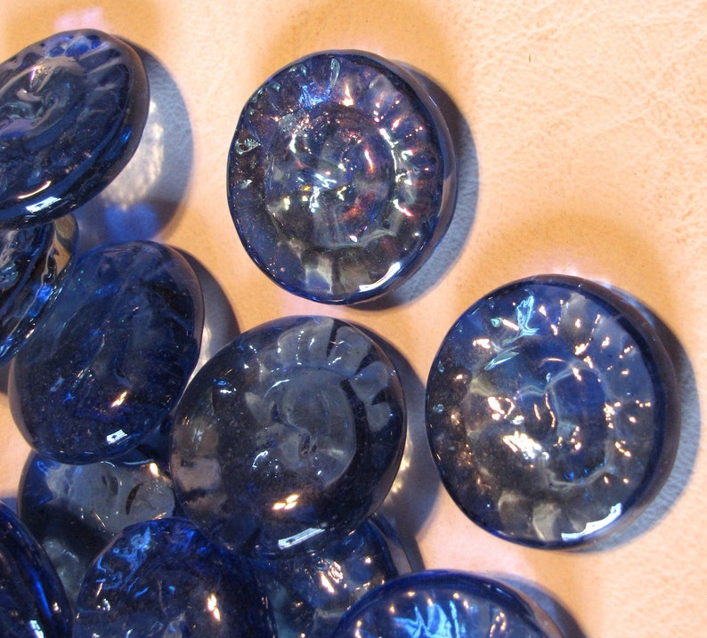 Sun Catcher Stained Glass Supplies Jewelry Craft Supply Blue Glass Sun Face Gems for Mosaic