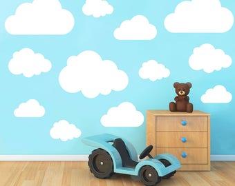 Set of 21 Clouds Vinyl Wall Art Sticker Decal Kids Room Nursery Decoration