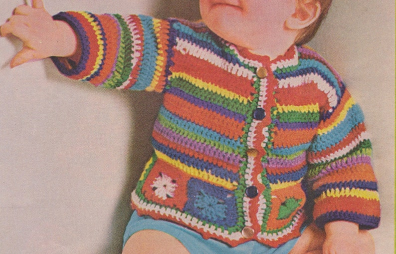b00347706 484 PDF Baby s Jacket Crochet Pattern Baby Sweater Size