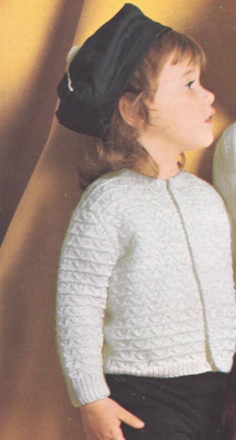 549 PDF Girls Sweater Knitting pattern size 1 2 3 4 Girls | Etsy