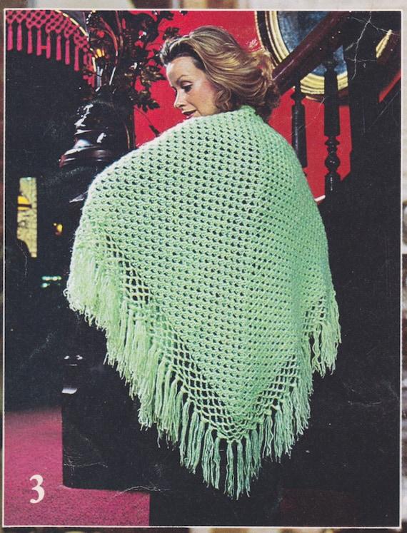 334 Pdf Shawl Crochet Pattern Mohair Shawl Ladies Wear Etsy