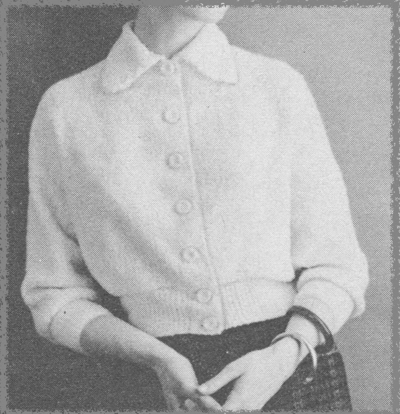 792639f05ff2b0 143 PDF Cardigan Speed-O-Knit Machine Knitting Pattern Ladies
