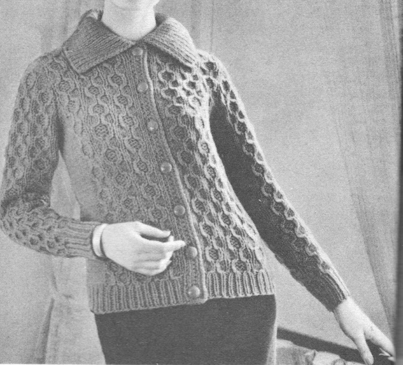 f3684bbe642cb6 142 PDF Dot Sweater Knitting Pattern Ladies Cardigan Pattern