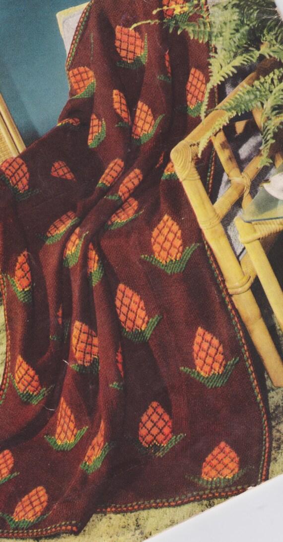 501 Free Pineapple Afghan Knitting Pattern Free Pattern Etsy