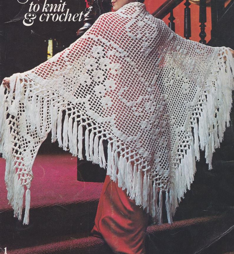 337 Pdf Shawl Crochet Pattern Grapevine Pattern Filet Etsy