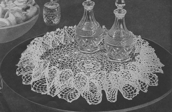 405 Irish Rose Ruffle Doily Crochet Pattern 3d Round Doily Etsy