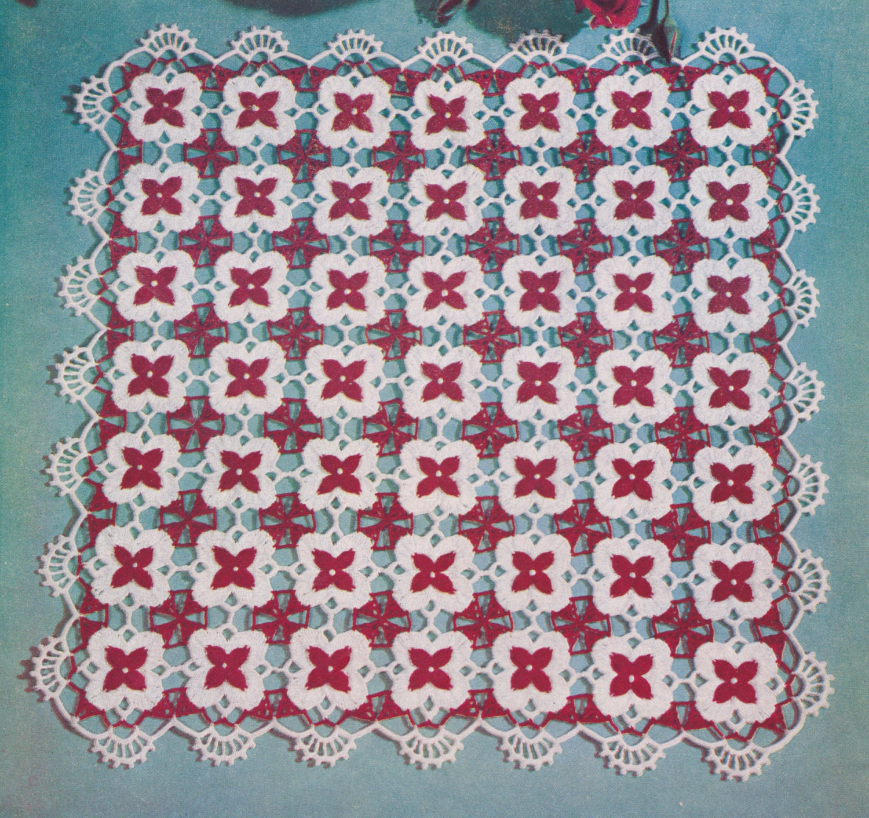 170 PDF Motif Doily Crochet Pattern, Square or Rectangle Doilies ...