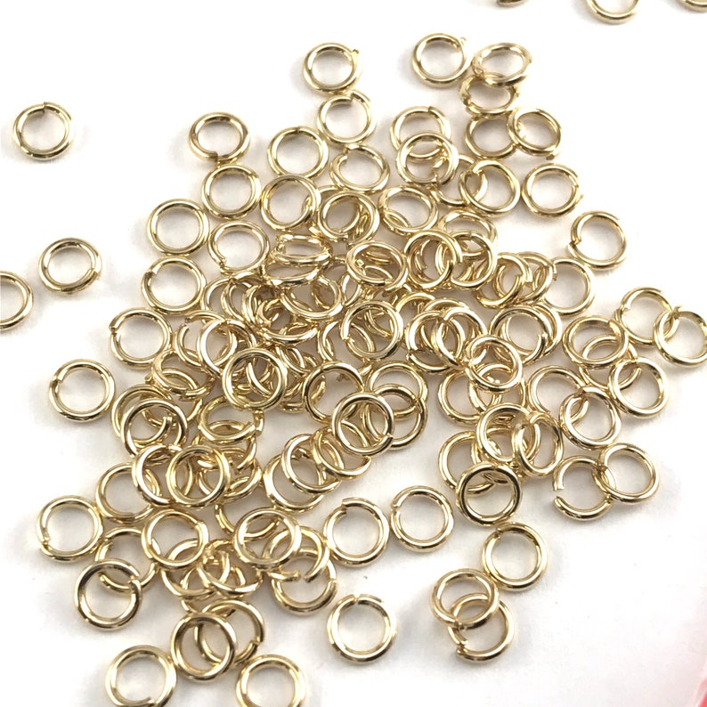 FIN1064 1000 Pack 4mm Gold Colour Open Jump Rings Bulk Pack Jewelry Findings