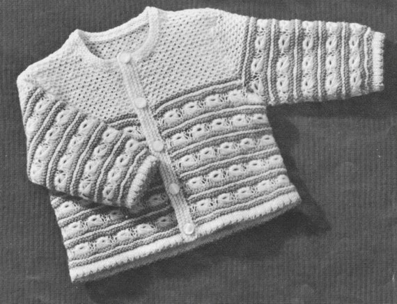 ae854ac44f1d9b 394 Vintage 1940 s Baby Sweater Knitting Pattern