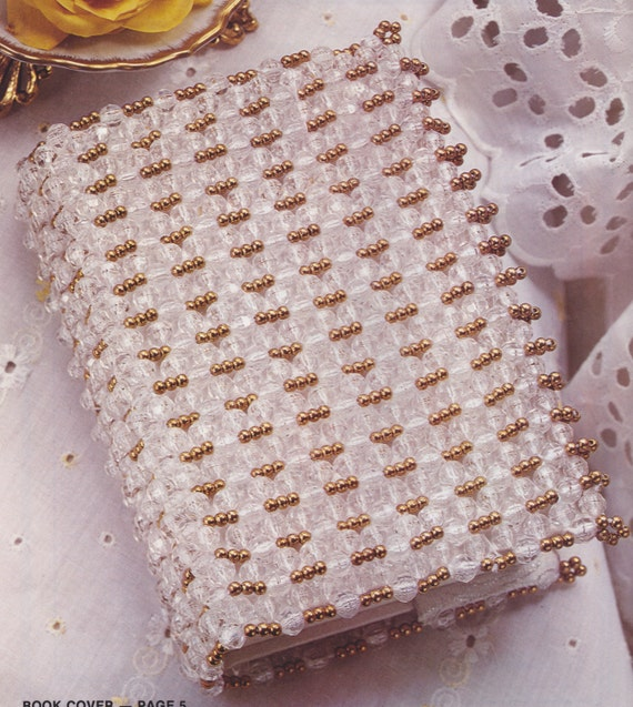 224 Pdf Beaded Book Cover Pattern Baby Album Cover Wedding Etsy