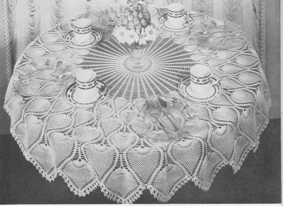 404 Pineapple Tablecloth Crochet Pattern Pineapple Pattern Etsy