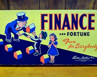 Parker Bros. Finance and Fortune Board Game 1936 Edition