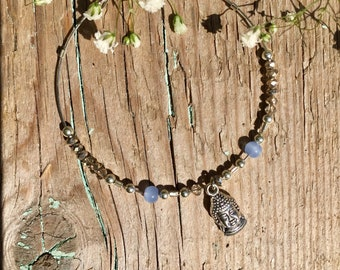 Delicate buddha head bracelet
