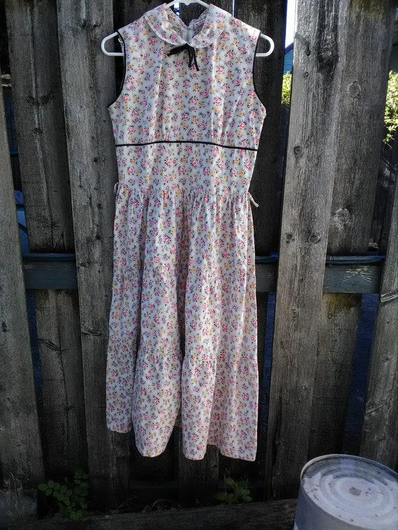 1950s vintage dress 50s sundress 50s cotton dress