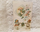 1894 Lion Coffee Trade Card Antique Coffee Advertising Card Lion Coffee Picture Card Promoting Pocket Knife Giveaway Vintage Ephemera