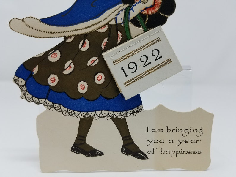 1922 Die Cut Calendar; 1922 Calendar; Mrs Gutgesell/'s 1922 Die Cut Calendar; Antique Calendar With Young Lady Die Cut