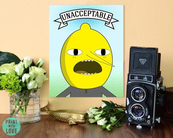 Adventure Time Lemongrab Unacceptable Cartoon Network Fan