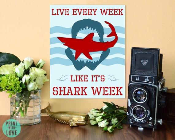 30 Rock Camera : Live every week like its shark week tracy jordan 30 rock etsy