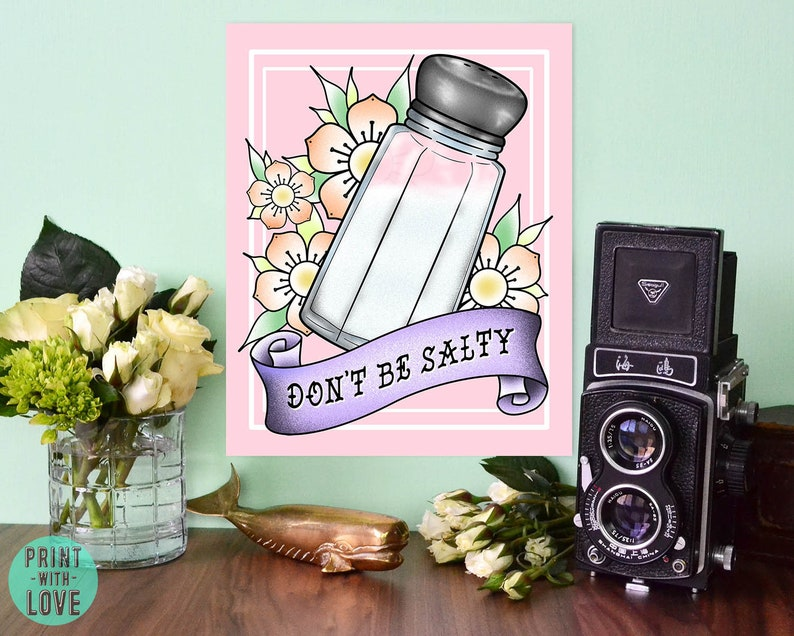 Don't Be Salty Cute Tattoo Flash Inspired Banner image 0