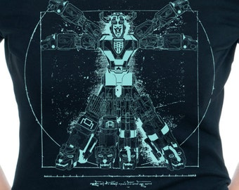 167bd47a Voltruvian Man-Voltron, Legendary Defender Blueprint-Mens/Ladies T-shirt-Geekdom  Parody Art by Mannart Designs