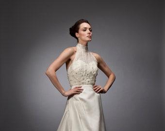 97c9a45c97 Halter bridal gown