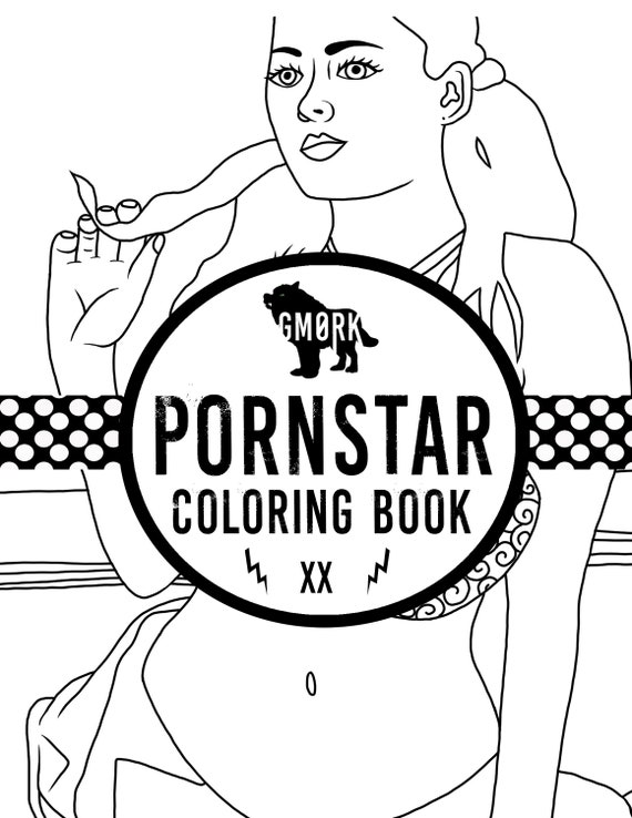 Pornstars Coloringbook Bachlorette Party Colorjpg Etsy