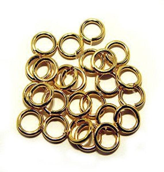 Russian Gold Ring Hard Open Jump 10mm Heavy Gauge SNAPEEZ® II ULTRAPLATE® 24 kt