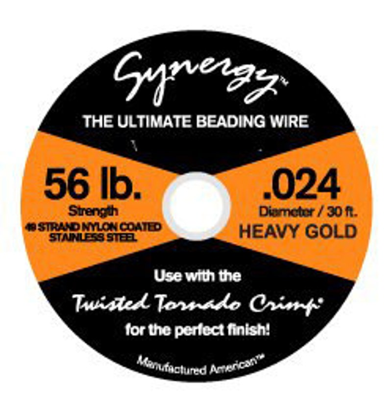 30ft. 49 strand Synergy Beading Wire\u00ae .024 Gold