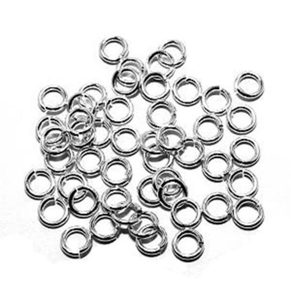 SNAPEEZ® II ULTRAPLATE® 99.9/% Shiny Silver Ring Hard Open Jump 4mm Heavy Gauge