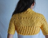 Yellow Summer Bollero - Lace Summer Bolero
