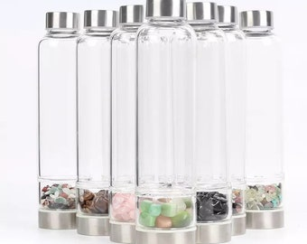 Crystal Water Bottles- tumbled stones